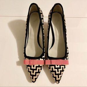 Monica Garcia wide heel pointed pumps